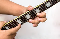 Guitar tapping technic Stock Images