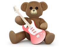 Guitar Teddy Stock Photo