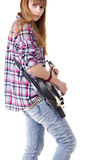 Guitar teen girl Royalty Free Stock Photography