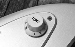 Guitar tone knob Royalty Free Stock Images