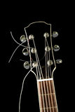 Guitar top head on black background Royalty Free Stock Images