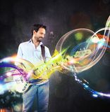 Guitar trails royalty free stock photo