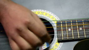 Guitar Training stock footage