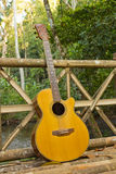 Guitar with Travel Stock Photo