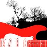 Guitar and tree Stock Photos