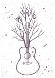 Guitar tree Stock Image