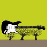 Guitar Trees vector illustration