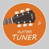 Guitar tuner logo flat vector. N Stock Photography