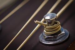 Guitar tuning peg Stock Image