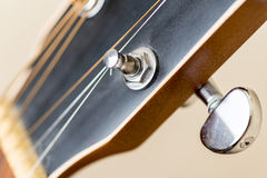 Guitar tuning peg Stock Image