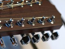 Guitar tuning pegs Royalty Free Stock Images