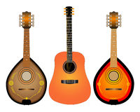Guitar and two Mandalina Stock Photography