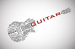 Guitar vector. Guitar consisting of words (musical terms Stock Photography