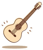 Guitar vector. Illustrations of a guitar isolated on white + vector eps file Royalty Free Stock Photo