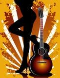 Guitar vector composition Royalty Free Stock Photos