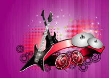 Guitar vector composition Stock Images