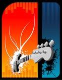 Guitar vector composition Royalty Free Stock Photo