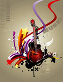 Guitar vector composition Royalty Free Stock Images