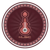 Guitar vector label Royalty Free Stock Photo