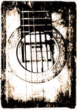 Guitar vintage style royalty free stock photography