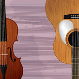 Guitar and violin icon Royalty Free Stock Images