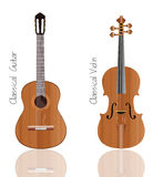 Guitar and violin vector set  Stock Photos