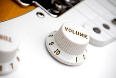 Guitar volume control Royalty Free Stock Images
