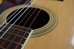 Guitar Wallpaper. Close up Guitar Wallpaper Background Stock Photo