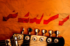 Guitar wallpaper Stock Image