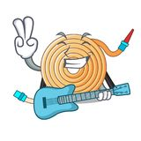 With guitar water hose to extinguish the fire. Vector illustration vector illustration