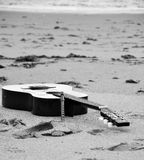 Guitar whit tin whistle Royalty Free Stock Image