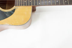 Guitar on white background Royalty Free Stock Photography