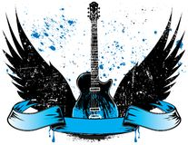 Guitar With Wings Royalty Free Stock Image