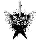 Guitar wings hard rock_var 2 vector illustration