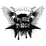 Guitar wings punk rock_var 1 vector illustration