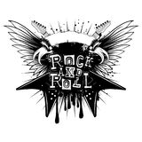 Guitar wings rock and roll_var 1 royalty free illustration