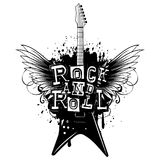 Guitar wings rock and roll_var 2 royalty free illustration