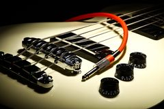 Guitar and wire Royalty Free Stock Photography