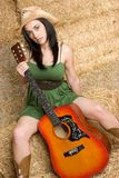 Guitar Woman Royalty Free Stock Image