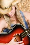 Guitar Woman Royalty Free Stock Photos
