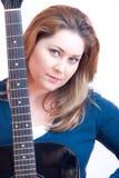 Guitar woman Stock Image