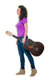 Guitar woman player Stock Images