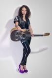 Guitar woman player fashion Stock Image