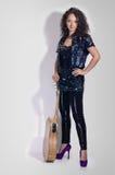 Guitar woman player fashion Stock Photo