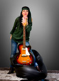 Guitar woman Royalty Free Stock Image