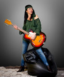 Guitar woman Royalty Free Stock Images