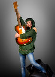 Guitar woman Stock Photos