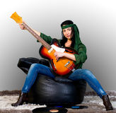 Guitar woman Royalty Free Stock Photo