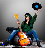 Guitar woman Royalty Free Stock Photos