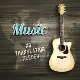 Guitar Wooden Backround Royalty Free Stock Images